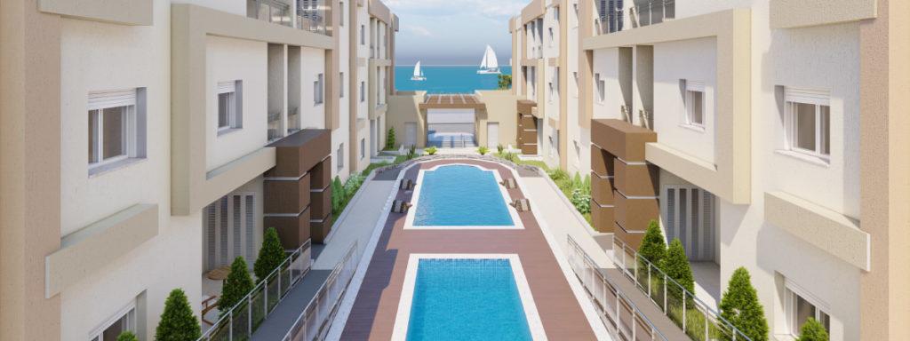 Résidence Tilel vu sur mer dans port El Kantaoui kantawi sur la région de Sousse